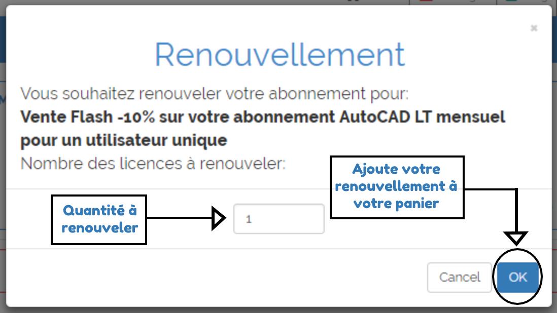 pop-up renouvellement