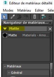 Editeur Matériau
