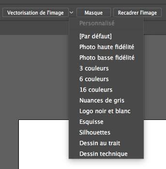 vectoriser une image dans illustrator